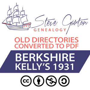 Kelly's 1931 Directory of Berkshire on CD - SG Genealogy