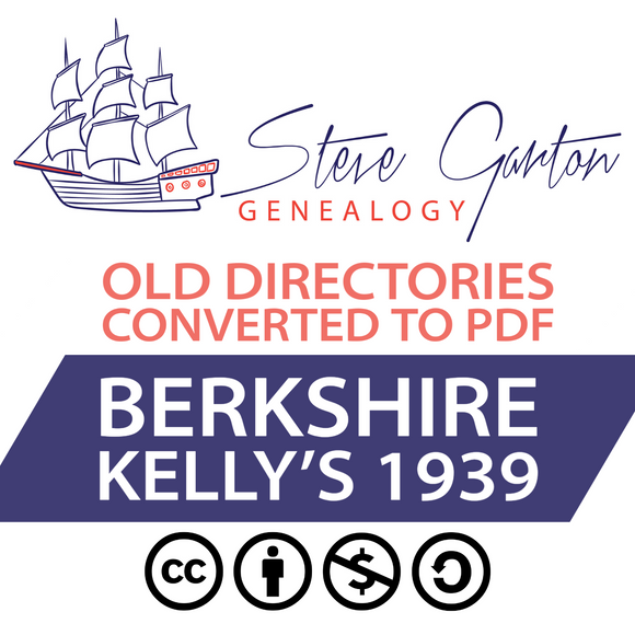 Kelly's 1939 Directory of Berkshire on CD - SG Genealogy