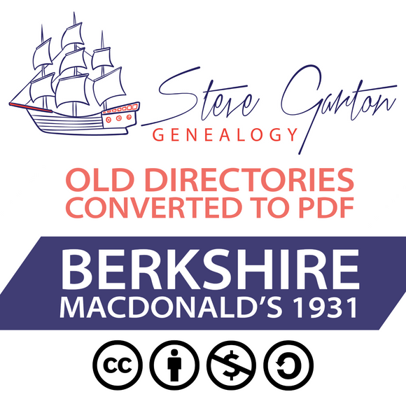 Macdonald's 1931 Directory of Berkshire Download