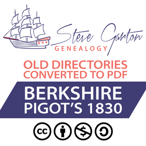 Pigot's 1830 Directory of Berkshire on CD - SG Genealogy