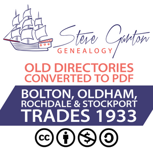 1933 Trades Directory of Bolton, Oldham, Rochdale & Stockport Download