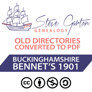 Bennett's 1901 Directory of Buckinghamshire on CD
