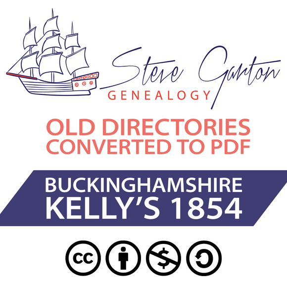 Kelly's 1854 Directory of Buckinghamshire on CD