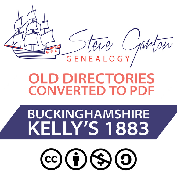Kelly's 1883 Directory of Buckinghamshire on CD