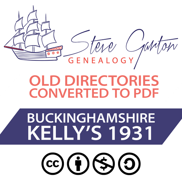 Kelly's 1931 Directory of Buckinghamshire on CD