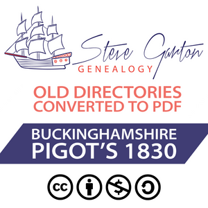 Pigot's 1830 Directory of Buckinghamshire Download
