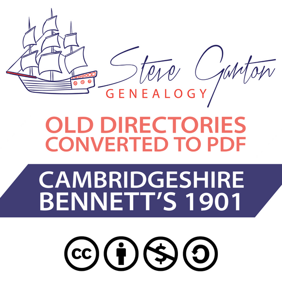 Bennett's 1901 Directory of Cambridgeshire on CD - SG Genealogy