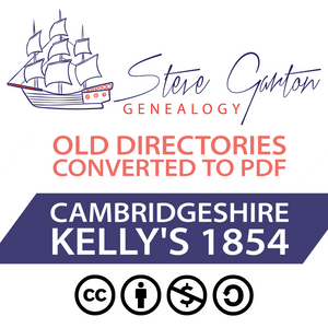 Kelly's 1854 Directory of Cambridgeshire on CD - SG Genealogy