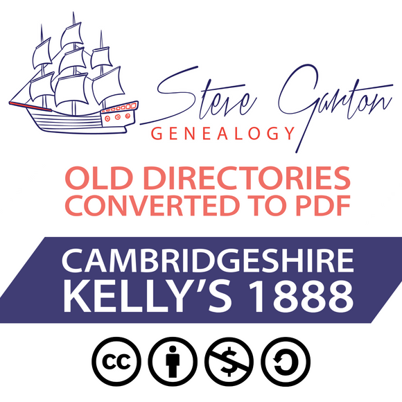 Kelly's 1888 Directory of Cambridgeshire on CD