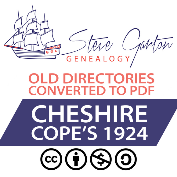 Cope's 1924 Directory of Cheshire on CD