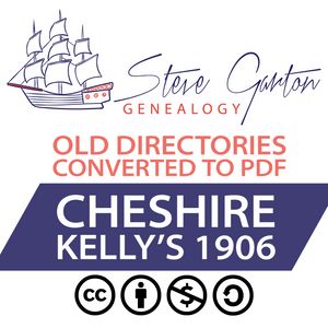 Kelly's 1906 Directory of Cheshire on CD - SG Genealogy