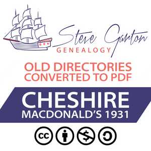 Macdonald's 1931 Directory of Cheshire Download - SG Genealogy