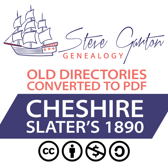 Slater's 1890 Directory of Cheshire on CD