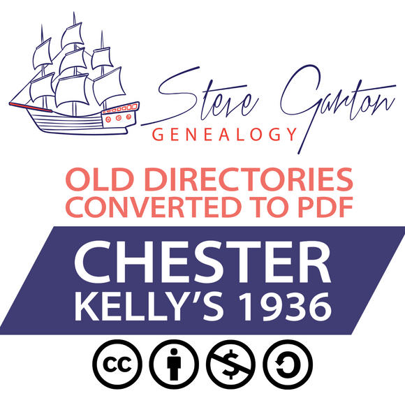 Kelly's 1936 Directory of Chester on CD