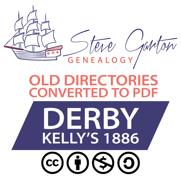 Kelly's 1886 Directory of Derby on CD