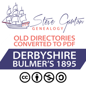 Bulmer's 1895 Directory of Derbyshire on CD