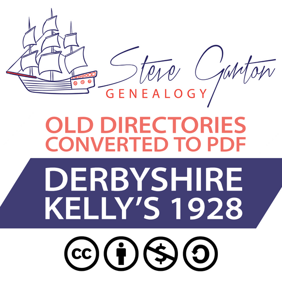 Kelly's 1928 Directory of Derbyshire on CD