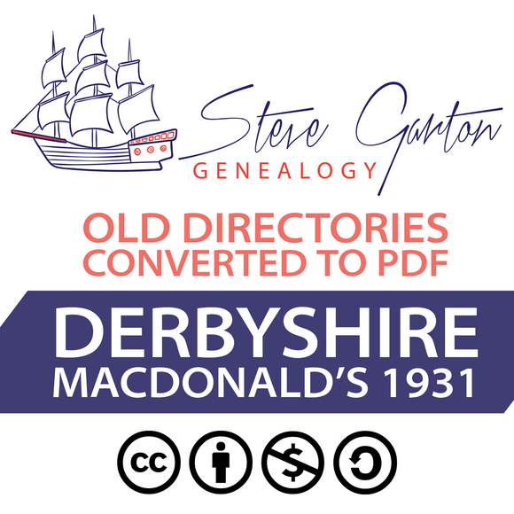 Macdonald's 1931 Directory of Derbyshire Download
