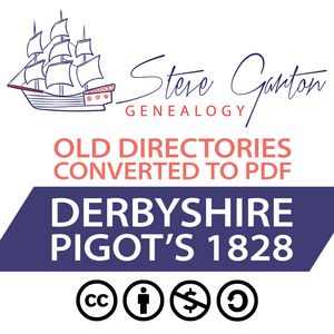 Pigot's 1828 Directory of Derbyshire Download