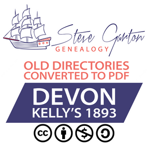 Kelly's 1893 Directory of Devon on CD - SG Genealogy