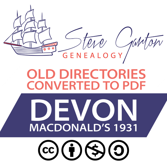 Macdonald's 1931 Directory of Devon on CD