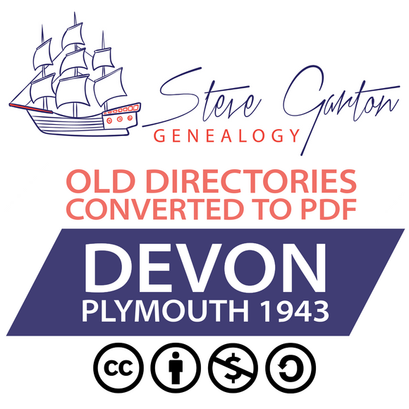 1943 Blue Book Directory of Plymouth Download - SG Genealogy