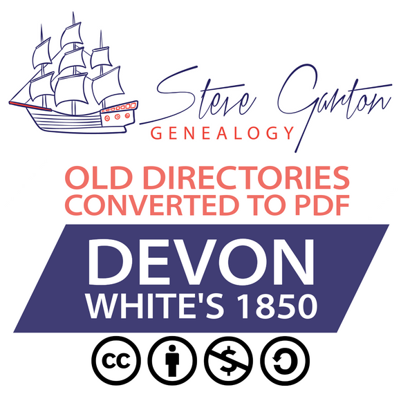 White's 1850 Directory of Devon on CD