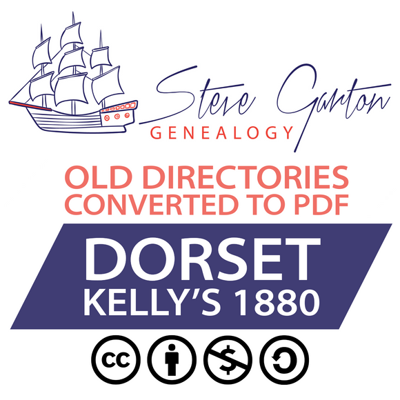 Kelly's 1880 Directory of Dorset Download - SG Genealogy