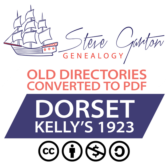 Kelly's 1923 Directory of Dorset on CD - SG Genealogy