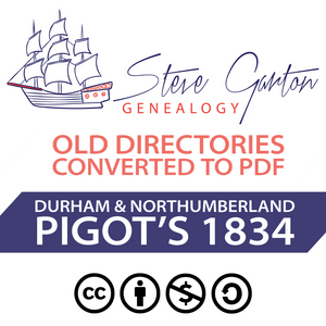Pigot's 1834 Directory of Durham & Northumberland Download - SG Genealogy