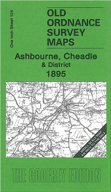 Ashbourne, Cheadle & District 1895 - England Sheet 124