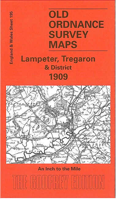Lampeter, Tregaron & District 1909 - Wales Sheet 195