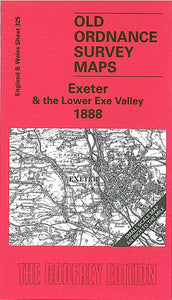 Exeter & The Lower Exe Valley 1888 - England Sheet 325