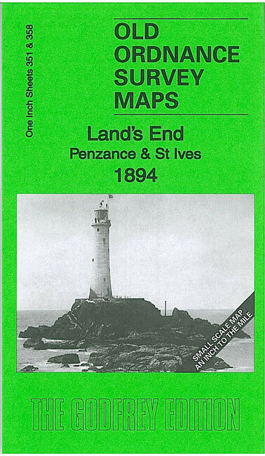 Land's End, Penzance & St Ives 1894 - England Sheet 351/358