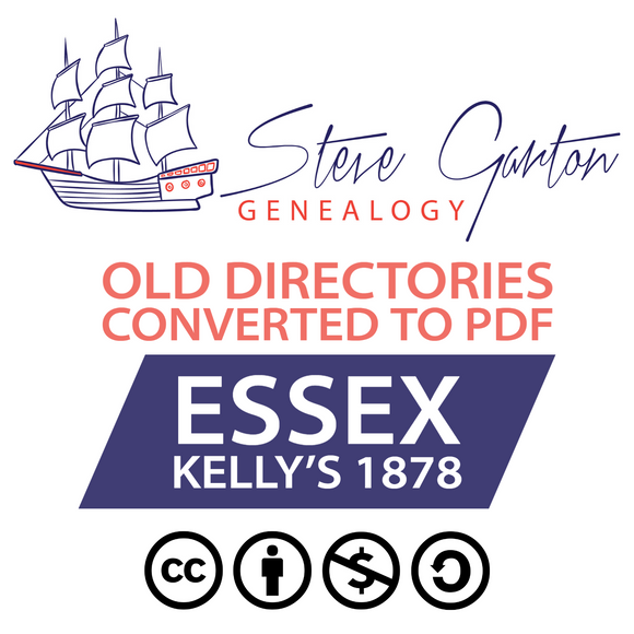 Kelly's 1878 Directory of Essex on CD