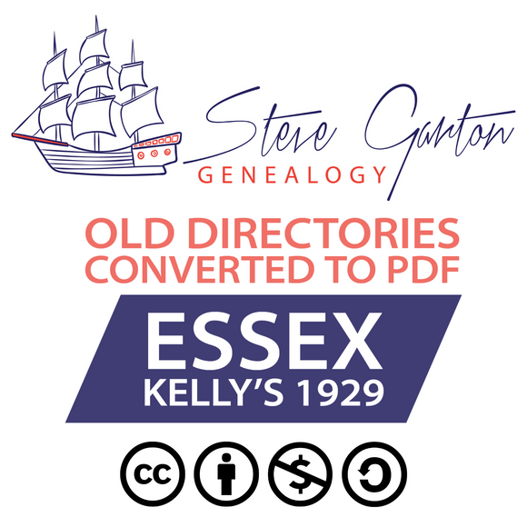 Kelly's 1929 Directory of Essex Download - SG Genealogy