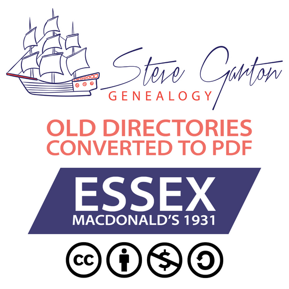 Macdonald's 1931 Directory of Essex on CD - SG Genealogy