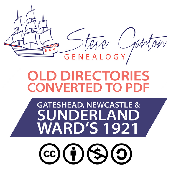Ward's 1921 Directory of Gateshead, Newcastle & Sunderland Download - SG Genealogy