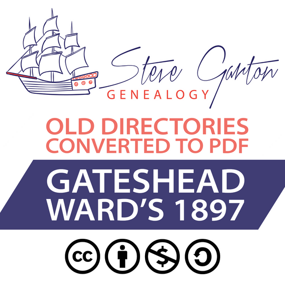 Ward's 1897 Directory of Gateshead on CD