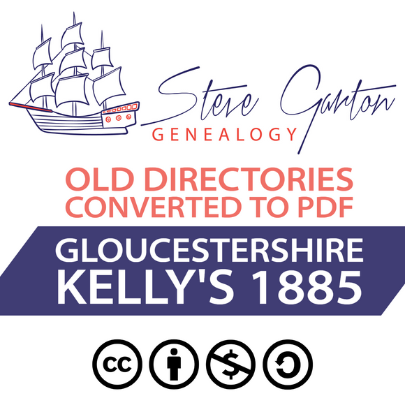Kelly's 1885 Directory of Gloucestershire on CD - SG Genealogy