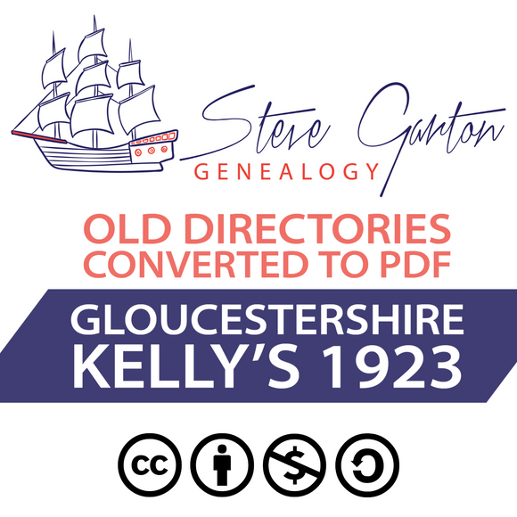 Kelly's 1923 Directory of Gloucestershire on CD