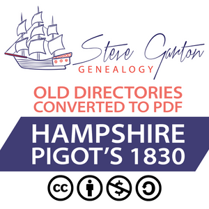 Pigot's 1830 Directory of Hampshire on CD - SG Genealogy