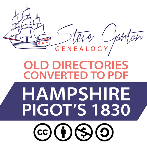 Pigot's 1830 Directory of Hampshire Download