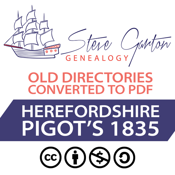 Pigot's 1835 Directory of Herefordshire on CD - SG Genealogy