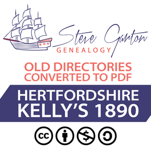 Kelly's 1890 Directory of Hertfordshire on CD