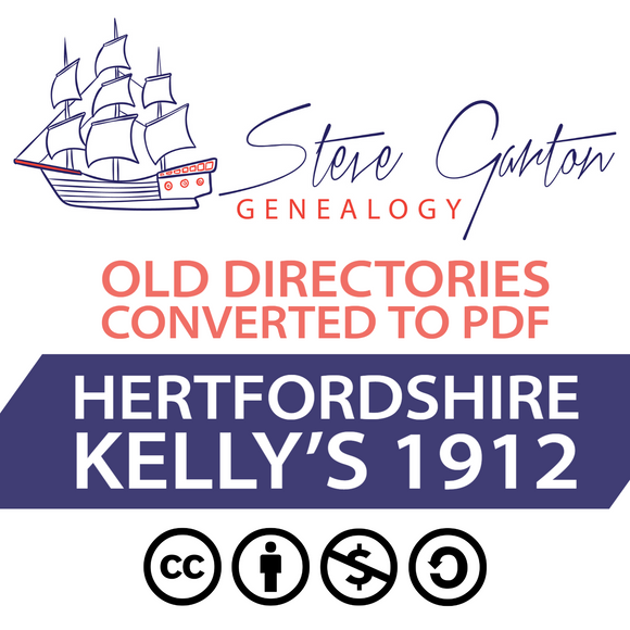 Kelly's 1912 Directory of Hertfordshire Download