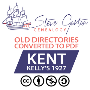 Kelly's 1927 Directory of Kent on CD