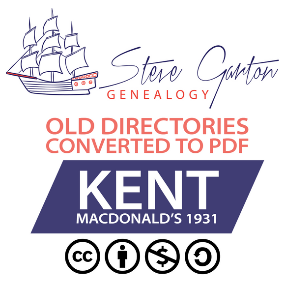 Macdonald's 1931 Directory of Kent on CD