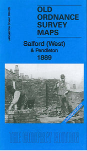 Salford West 1889 Coloured Edition - Lancashire Sheet 104.05a