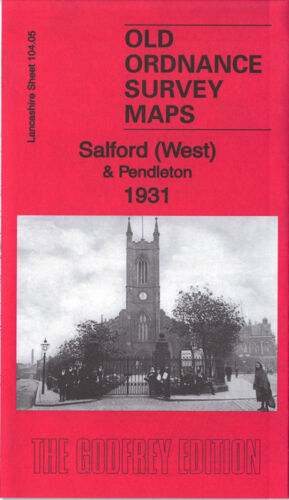 Salford West & Pendleton 1931 - Lancashire Sheet 104.05c